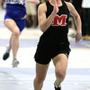 Ken Yuszkus/Staff photo: Danvers: Marblehead's Alyssa Nye won her heat in the 55 meter race at the Marblehead at Danvers indoor track meet.