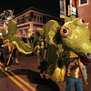 Beverly:<br /> A dragon winds through Cabot Street during the Grand Procession at Beverly's New Year.<br /> Photo by Ken Yuszkus/The Salem News, Monday, December 31, 2012.