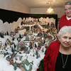 Peabody:<br /> Joan Pappalardo and John Murphy built a North Pole village display.<br /> Photo by Ken Yuszkus/The Salem News, Friday, December 7, 2012.