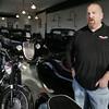 Beverly:<br /> Tom Mannett is the owner of Legendary Motors Showroom in Beverly.<br /> Photo by Ken Yuszkus/The Salem News, Wednesday, December 12, 2012.