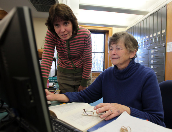 Head Reference Librarian, Jane Walsh, right, and Assistant Reference Librarian Susan Szpak, from the Salem Public Library. David Le/Staff Photo