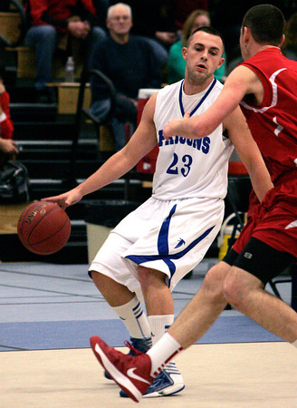 Danvers:<br /> Danvers' Nick McKenna keeps a handle on the ball during the Saugus at Danvers boys basketball game.<br /> Photo by Ken Yuszkus/The Salem News, Friday, December 21, 2012.