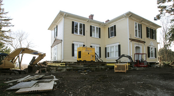 Beverly:<br /> This house on Neptune Street is being moved in the near future. <br /> Photo by Ken Yuszkus/The Salem News, Monday, December 3, 2012.
