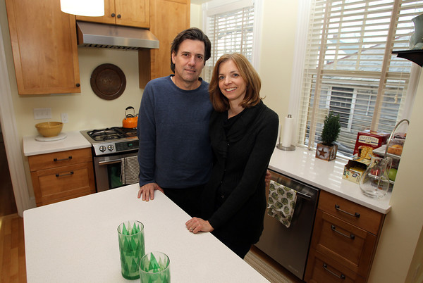 Mike and Linda Blier, owners of the former Ropes Estate on Felt St. in Salem, will be having an open house on Sunday for neighbors to get a look inside the renovated house. David Le/Staff Photo