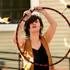 Beverly:<br /> Anni Gale of Boulder, Colorado, performs with a flaming circle during the fire spinning performance at Beverly's New Year.<br /> Photo by Ken Yuszkus/The Salem News, Monday, December 31, 2012.