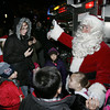 Salem:<br /> Santa greets the crowd assembled to meet him.<br /> Photo by Ken Yuszkus/The Salem News, Friday, December 7, 2012.