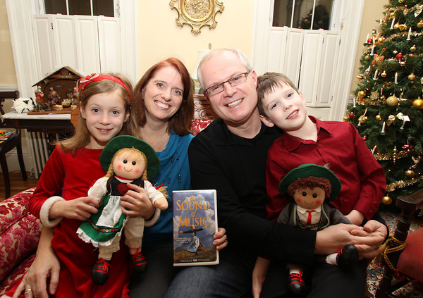 Leanne and Herbert Schild, of Salem, and their 7-year old twins Alexander and Maria, won a trip to Salzburg, Austria through a Facebook contest. Close to 1,000 people voted for the family, including Salem Mayor Kim Driscoll. David Le/Staff Photo