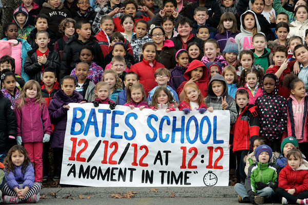 Salem:<br /> The students at Bates School, are photographed by Life Touch, photographer Terry Mullen at 12:12 PM.<br /> Photo by Ken Yuszkus/The Salem News, Wednesday, December 12, 2012.