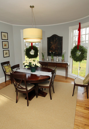 The dining room in the renovated Ropes Estate on Felt St. in Salem. David Le/Staff Photo