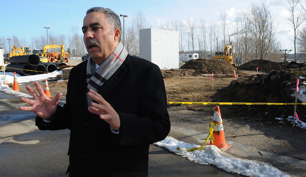 Middleton:<br /> Sheriff Frank Cousins speaks about the new Regional Support Services Building being built at the Middleton Jail. He is standing in front of the work site.<br /> Photo by Ken Yuszkus/The Salem News, Tuesday, February 26, 2013.