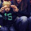 Beverly:<br /> Owen Dexter, 22 months old, and his mother Emily sing a song with hand gestures during the Toddler Story Time at the Beverly Public Library on Wednesday morning.<br /> Photo by Ken Yuszkus/The Salem News, Wednesday, February 20, 2013.