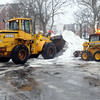 Salem:<br /> City workers remove snowpiles on Hawthorne Boulevard in Salem.<br /> Photo by Ken Yuszkus/The Salem News, Monday, February 11, 2013.