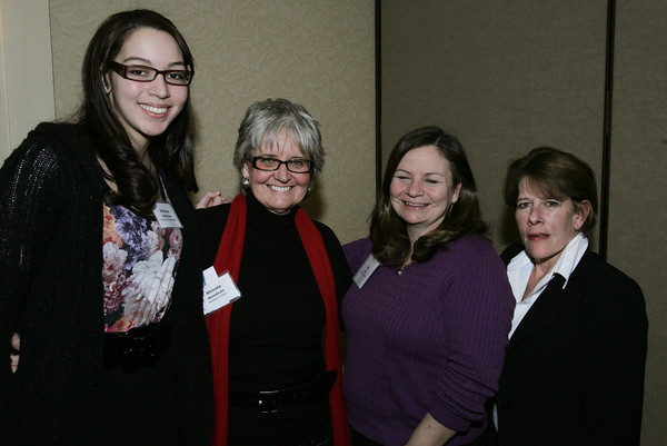 Peabody:<br /> From left, Rebecca Heathman of North Shore Community College, Rhonda Woodman of Woodman's of Essex, Jullie Cook of Cook Bowe Communications, and Susan Babine of Finz attend the 7th annual tourism summit presented by the North of Boston Convention and Visitors Bureau at the Peabody Marriott.<br /> Photo by Ken Yuszkus/The Salem News, Friday, February 1, 2013.