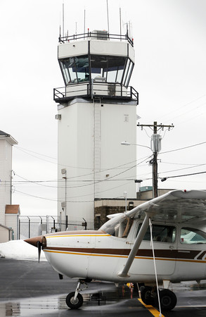 Beverly:<br /> The control tower at Beverly Airport.<br /> Photo by Ken Yuszkus/The Salem News, Thursday, February 28, 2013.