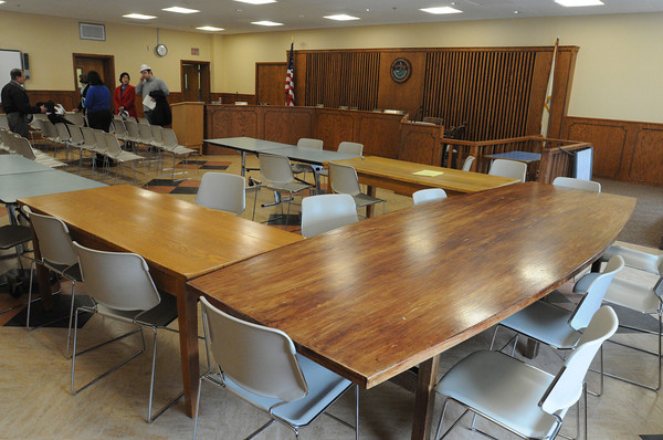 Salem:<br /> The renovated school committee chambers at the Collins Middle School. <br /> Photo by Ken Yuszkus/The Salem News, Tuesday, February 26, 2013.