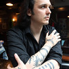 Damien Echols, one of the West Memphis Three, a group of three young men who spent 18 years on death row before being released last year. Echols, writer of a best-selling novel documenting his journey, was also the subject of multiple documentaries, and recently moved to Salem. David Le/Staff Photo