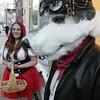 Nicole Denisco and Josh Beaulieu, both of Salem, are dressed for Halloween in Salem.<br /> Photo by Ken Yuszkus.