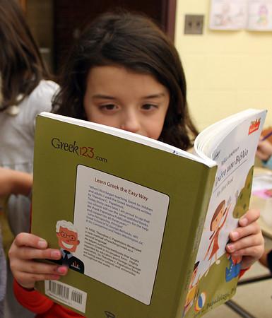 Peabody: Sophia attends the St. Vasilios School in Peabody. Alan Burke/staff photographer Dec. 10, 2012.