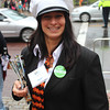 Dyan Iapicca, who says she lives for Halloween, helped at the information booth over the weekend. <br /> Alan Burke/Staff photo