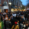 Halloween enthusiasts filled the Essex Street pedestrian mall on Saturday evening.  David Le/Staff photo