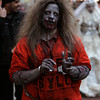 Noelle Favazza of Methuen in costume on the pedestrian mall during Halloween in Salem.<br /> Photo by Ken Yuszkus.