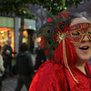 Nicole Briggs of Halifax at the pedestrian mall during Halloween in Salem.<br /> Photo by Ken Yuszkus.