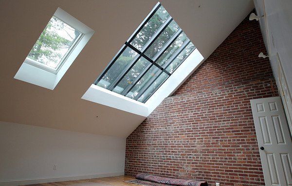 Skylight in a renovated apartment at the Coach House at Willowdale Estate. David Le/Staff Photo