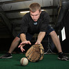 Former St. John's Prep baseball star Matt Antonelli fields a few practice ground balls at Route 1 SportsPlex on Monday afternoon. A free agent this offseason Antonelli is looking to sign with a ballclub this winter. David Le/Staff Photo