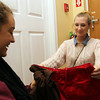 Alea Moscone, left, and Rory Brown, right, both 16 from Marblehead, look through clothes inside Re-Find on Washington St. in Salem. David Le/Staff Photo