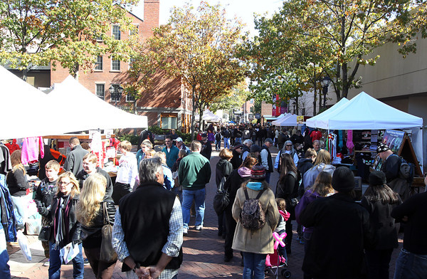 The Essex St. pedestrian mall was crowded with people Saturday afternoon as the Halloween crowds have begun to grow in downtown Salem. David Le/Staff Photo