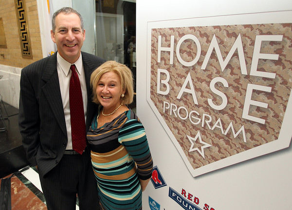 """State Representative Jerry Parisella, of Beverly, and his wife Lisa, were an integral part of the Home Base Program """"Staying Strong,"""" an initiative to support military families at home and in school communities. David Le/Staff Photo"""
