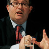 Danvers:<br /> Daniel Fishman speaks during the debate at Danvers High School.<br /> Photo by Ken Yuszkus/The Salem News, Wednesday, October 10, 2012.
