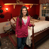Lisa Marchand is manager of the Henry Derby House and the John Edwards House on Summer St. in Salem. Due to Hurricane Sandy many Salem hotels, inns, and bed and breakfasts, have vacancies from cancellations from out of state visitors. David Le/Staff Photo