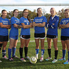 The Danvers High School defense has been solid all season for the Falcons. They are led by junior Erin Loehner, senior captain Jackie Morse, senior captain Renee Pohle, junior Nicole Belanger, sophomore Emily Murphy, and junior Cate Raftery. David Le/Staff Photo