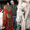 Beverly:<br /> David Bull is amongst the various costumes that the Le Grand David Magic Company will sell on Saturday.<br /> Photo by Ken Yuszkus/The Salem News, Thursday, November 15, 2012.