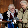 Beverly:<br /> Grace Sahovey, left, and Ginny Currier, both of Beverly, look over items for sale at the Lynch Park arts & crafts sale.<br /> Photo by Ken Yuszkus/The Salem News, Friday, November 30, 2012.