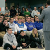 Danvers:<br /> Students listen to former Celtic Chris Herren as he speaks at Danvers High School.<br /> Photo by Ken Yuszkus/The Salem News, Thursday, December 6, 2012.