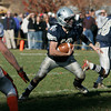 Hamilton:<br /> Hamilton-Wenham's Trevor Lyons goes through an opening  during the Ipswich at Hamilton-Wenham Thanksgiving football game.<br /> Photo by Ken Yuszkus/The Salem News, Thursday, November 22, 2012.