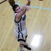 Gordon College junior Lauren Kranyak watches her shot all the way to the basket against Newbury College on Friday evening. David Le/Staff Photo