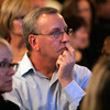Peabody:<br /> John Federico of Andover, listens to the returns posted on the large screen TV at Richard Tisei's party held at the Peabody Marriott early in the night.<br /> Photo by Ken Yuszkus.