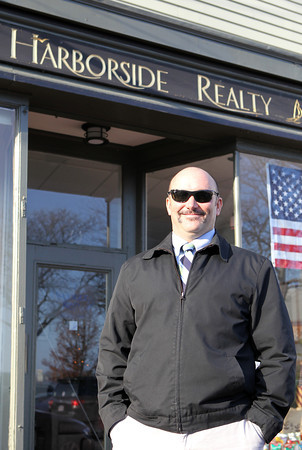 Matt Dolan, co-owner of Harborside Realty in Marblehead is participating in Movember. David Le/Staff Photo