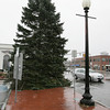 Danvers:<br /> A Christmas tree now stands in Danvers center.<br /> Photo by Ken Yuszkus/The Salem News, Monday, November 13, 2012.