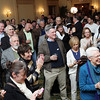 A large crowd of John Tierney supporters gathered in the Ballroom on Tuesday night as they awaited the poll results. David Le/Staff Photo