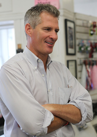 BEVERLY — U.S. Senator Scott Brown visited Browns of Beverly Bicycles on Friday, July 27. David Le/Staff photo