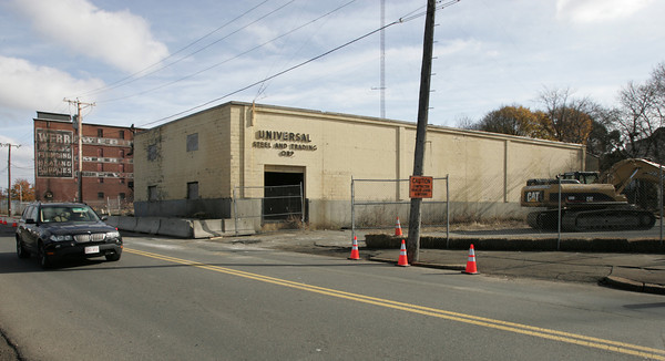 Salem:<br /> The Universal Steel building on Bridge Street in Salem will soon be demolished.<br /> Photo by Ken Yuszkus/The Salem News, Monday, November 19, 2012.