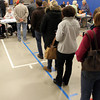 People wait in line to vote at the North Beverly Elementary School on Tuesday evening, Nov. 6. Polls across the country were packed as many people waited in line to vote. David Le/staff photo