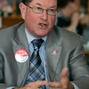 Danvers:<br /> Selectman Dan Bennett of Danvers is a state Rep. candidate for the 13th Essex District .<br /> Photo by Ken Yuszkus/The Salem News, Thursday, November 1, 2012.