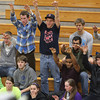 Gordon College fans cheer on their team in the Fighting Scots home opener on Friday evening. David Le/Staff Photo