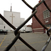 Salem:<br /> St. Joseph Church wll be demolished in a couple of weeks. Crews are already there doing interior work and asbestos removal.<br /> Photo by Ken Yuszkus/The Salem News, Wednesday, November 7, 2012.