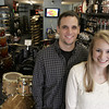 Beverly:<br /> Nathan and Marissa Morrison, husband and wife who recently opened The Drum Shop of the North Shore on Rantoul Street, at the site of the former Joe's Drum Shop. <br /> Photo by Ken Yuszkus/The Salem News, Friday, November 2, 2012.